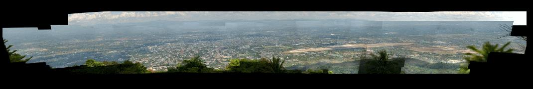 HD View Panorama of Chiang Mai from Doi Suthep Temple