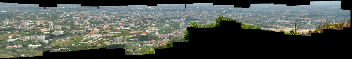 HD View Panorama of Chiang Mai from Doi Suthep Viewpoint